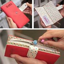Womens Fashion Lady Leather Wallets Credit Card Holder Purse Clutch Long Wallet