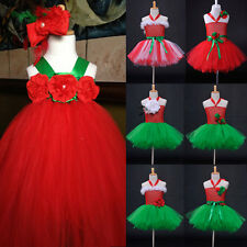 1 New Girls Baby Wedding Pageant  Flower Ruffle Dance Ballet Halter Dress 0-8Y