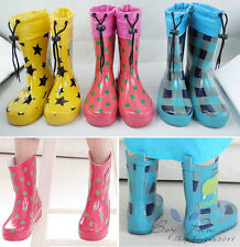 Kids Toddlers Boys Girls Unisex Rain Boots Water Shoes Child Rubbers Galoshes