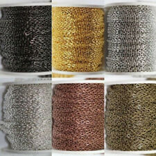 5M/10M Silver/Golden Plated Cable Open Link Iron Metal Chain Findings 6Colors