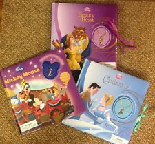 Disney Book & Charm Necklace ~ Cinderella, Mickey Mouse or Beauty and the Beast