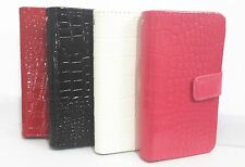 Crocodile Pattern Card slots Flip PU Leather Wallet Case Cove for Motorola Phone
