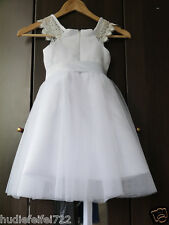 New Princess Lace Bow Trimmed Baby Girl Princess Flower Girl Dress Bow Belt Sash