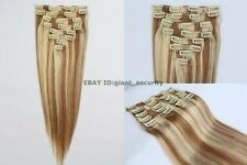#10/24 Full Head Clip in 100% Remy STW Human Hair Extensions C16