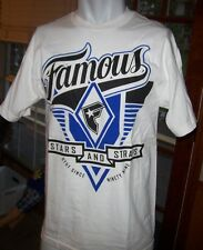 NEW FAMOUS STARS AND STRAPS  graphic tee T SHIRT white small or medium VARSITY