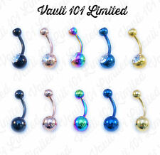 ANODIZED Surgical Steel Belly Button Bar Navel Ring 1.6mm x 10mm