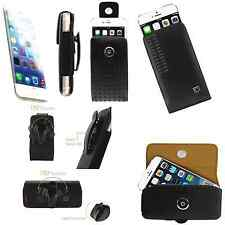 "Apple iPhone 6 4.7"" Leather Vertical Belt Clip Case Holster Black"
