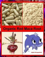 Pure Organic RED Maca Root Capsules - Naturally Helps Menopausal Hot Flashes