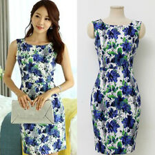 New Fashion Women Casual Dresses Lady Summer Print Dress Plus Size 0119