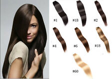 "New 12""-26"" 100g 100% Remy 5A Quality Human Hair Straight Weaving Weft Extension"
