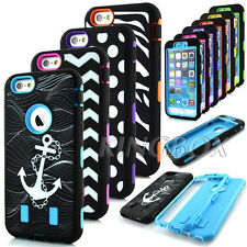 Pattern Printed Rugged Soft Hard Hybrid Shockproof Armor Case For iPhone 6 &Plus