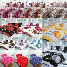 LUXURY DUVET COVER WITH PILLOW CASE QUILT COVER BEDDING SET DOUBLE ALL SIZES