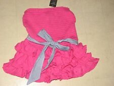 Abercrombie & Fitch Womens Alexis Strapless Cami Corset Tube Pink/Gray XS/S-NWT