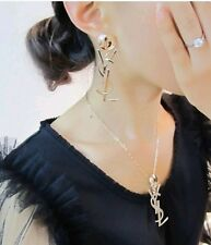 2014 new Fashion Letters full of diamond stud earrings Necklaces elegant jewelry