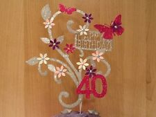 Glitter card, Butterfly, Birthday CAKE Decoration, Topper, any age, great 4 mum