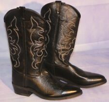 Black Cowboy - Work Boots By Old West TBM3010 *FREE SHIPPING!!*