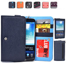 "Touch Responsive Woman-s Wrist-let Wallet Case Clutch XL|B fits 5.8-6.3"" Phone"