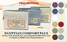 New 1600 Series Egyptian Comfort Plus Lux Soft Deep Pocket 4pc Bed Sheet Sets