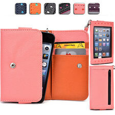 "Ladies Touch Responsive Wrist-let Wallet Case Clutch AM|I fits 4.5"" Cell Phone"