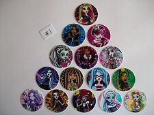 "15 ct 1"" Monster High Set A Inspired Buttons Pinbacks Flatbacks hairbows"
