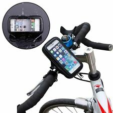 Handle Bar Holder Waterproof Rotating Bicycle Bike Mount Case For Mobile Phones