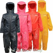 REGATTA PUDDLE 3 ALL IN ONE WATERPROOF RAINSUIT CHILDRENS KIDS CHILDS BOYS GIRLS