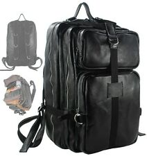 Men&Women Genuine Leather Travel Backpack Climbing Bag Luggage Duffle Bag Large
