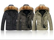 Mens Fashion Hooded Parka Jacket WINTER WARM Duck Down Coat NEW