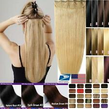 "BIG DISCOUNT ONE PIECE CLIP IN HUMAN HAIR EXTENSIONS REMY REAL 16""18""20""22"" vv"