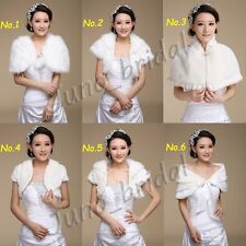 Warm Bridal Wedding Faux Fur Shrug Wrap Cape Bolero Scalf Shawl Coat Jacket