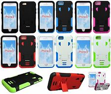 "For Apple iPhone 6 4.7"" Heavy Duty Protective Armor Kickstand Cover Hard Case"