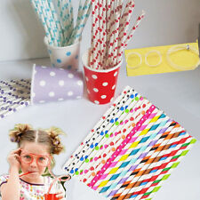 25X Disposable Cute Paper Drinking Straws For Halloween WeddingParty Baby Shower