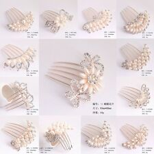 13 designs Wedding Floral Hair Head Comb Pieces Crystal Women's head Jewelry BN
