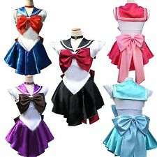 Sailor Moon Cosplay Costume Uniform Fancy dress Outfit & Glove Custom Made