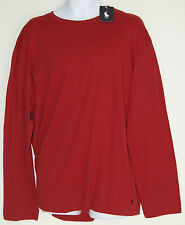 Polo Ralph Lauren Men's Night Shirt Long Sleeve New with Tags S Red 100% Cotton