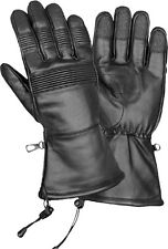 Men's Cold Weather Waterproof Gauntlet Glove Stretch Panels & Draw Tight String