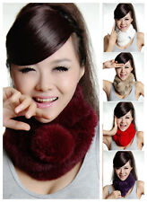 CHEAP 10 Colors Winter Warm Girl's Real Rabbit Fur Scarf Collar Wrap Scarf Shawl