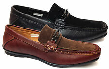 Mens Buckle Smart Wedding Dress Casual Slip Ons Moccasins Shoes Size 6-11