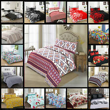 Duvet Cover with Pillow Case Quilt Cover Bedding Set  Double King All Size