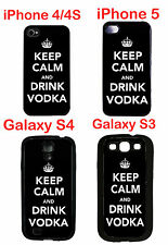 Keep Calm And Drink Vodka iPhone 4 4s iPhone 5 Galaxy S3 Galaxy S4 Silicone Case