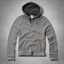 NWT Abercrombie & Fitch Men's Ausable River Hoodie Tee Grey - M, L
