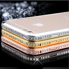 NEW Luxury Crystal Rhinestone Diamond Bling Metal Case Cover Bumper For iPhone 6
