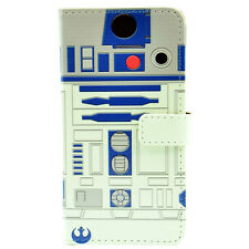Star Wars R2D2 Robot Leather Wallet Flip Case Cover For iphone 7 6S 6 Plus