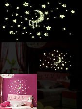 GLOW in the Dark Fluorescent WALL STICKERS, sensory- VARIOUS DESIGNS - UK seller
