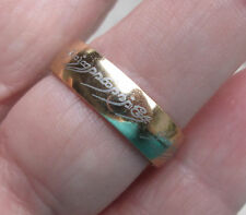 18k Gold Plated Stainless Steel Lord of the Rings The ONE Ring size 6 - 11