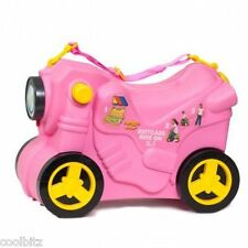 Molto Wheeled Suitcase Ride on Pull Along Kids Childrens Hand Luggage - New