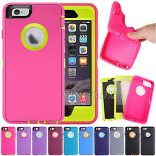 Rugged Heavy Duty High Impact Hybrid Shockproof Armor Case For iPhone 6 6S Plus