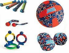 ZOGGS KIDS SWIMMING POOL GAMES AND TOYS SPLASH BALL DIVE STICKS & RING FREE UK P