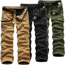 New Warm Winter Fleece Casual Mens Military Army Cargo Combat Work Trouser Pants