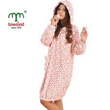 MMY Brand Coral Printing Warm Bathrobes Women's Clothing Robes & Lady Sleepwears